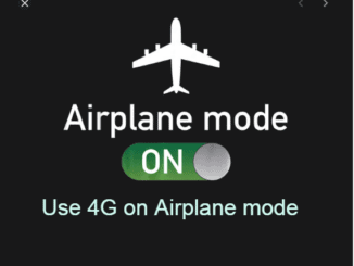 Use 4G on Airplane mode